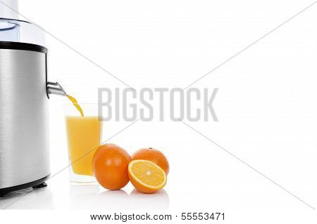 Fresh Orange Juice Background.