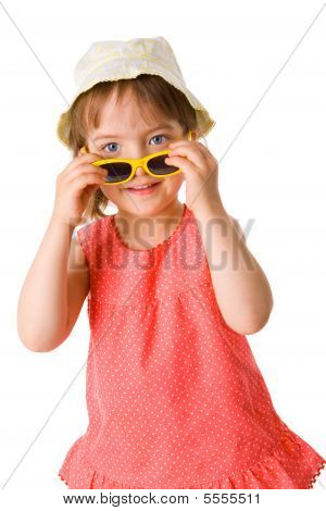Girl Holding Sunglasses