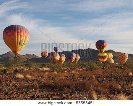 Wüste Heißluftballone