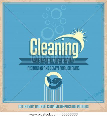 Vintage poster design for cleaning service