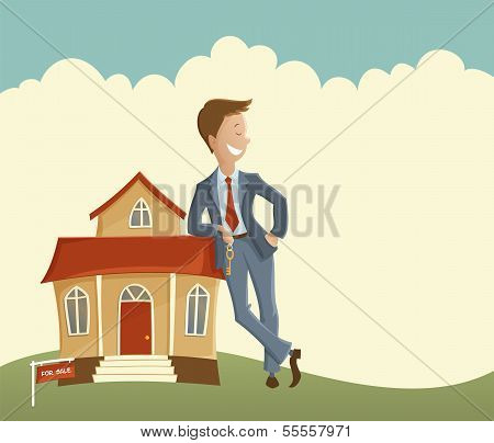 Estate agent and house