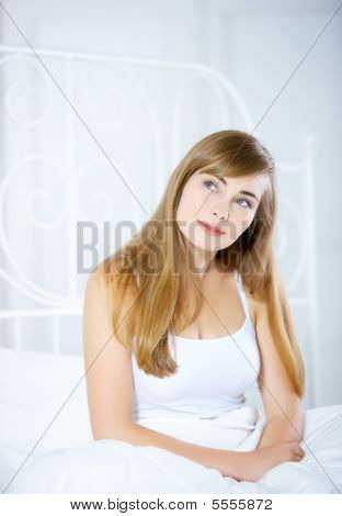Teenage Girl On Bed