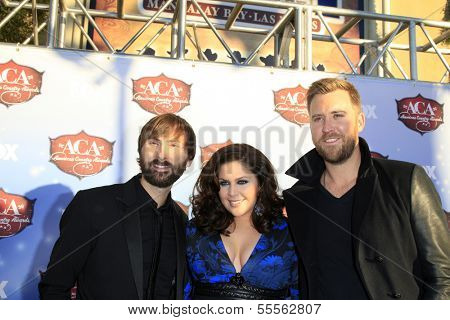 LAS VEGAS - DEC 10:  Dave Haywood, Hillary Scott, Charles Kelley at the 2013 American Country Awards at Mandalay Bay Events Center on December 10, 2013 in Las Vegas, NV