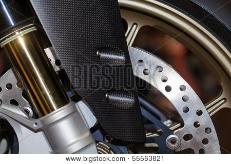 Shock Absorber's Motorcycle With Front Disk Break