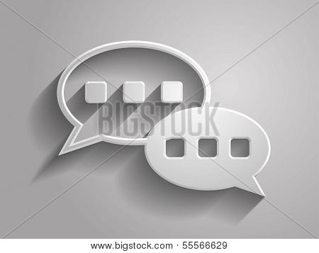 3d Vector illustration of chutting icon