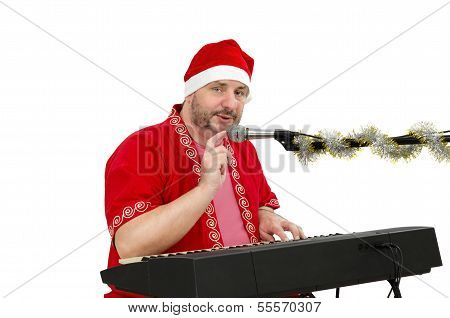 Santa With Electric Piano