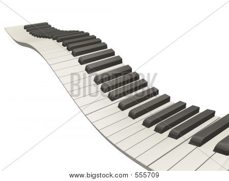 Teclas de Piano onduladas