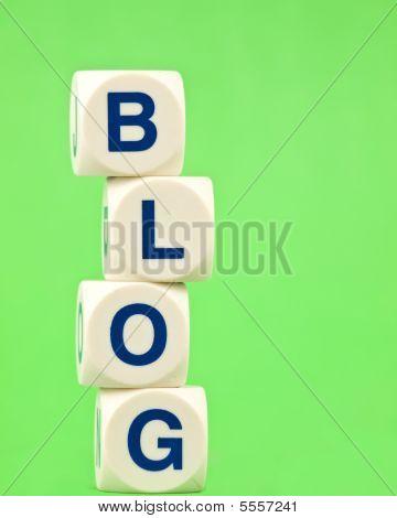 Blog On Green Background