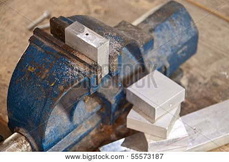 Vice With A Block Of Metal