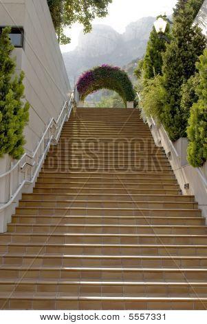 Stairway. Outdoor. Monaco.