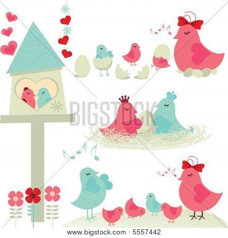 Família de aves