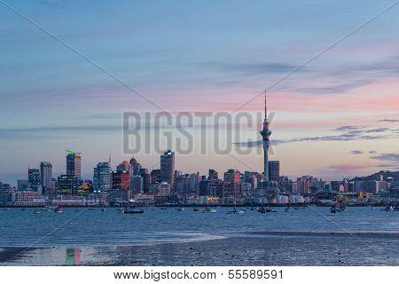 Auckland City Sunset