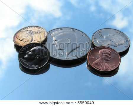 Shiny And Colorful  Us Coins
