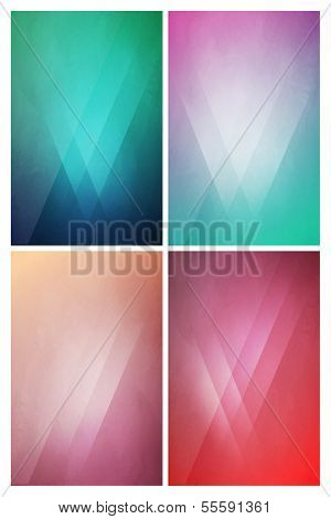 Eye-Catching flat background with Gradient Effect