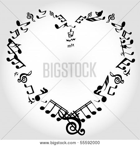 heart notes of music