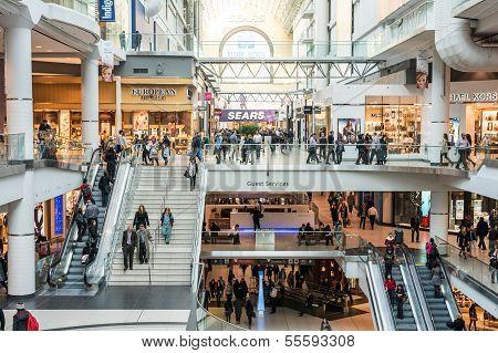 Busy Corridor In Eaton Center