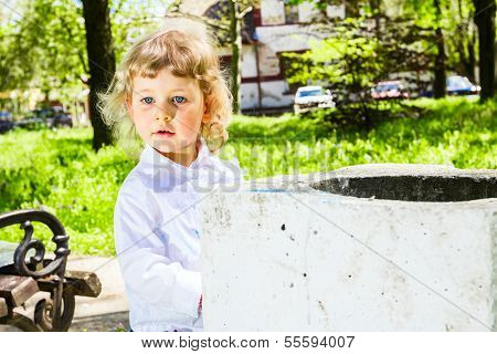 Child With Dirty Hands Chalk