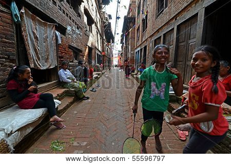 Kathmandu Suburb Streets, Nepal