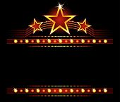 image of marquee  - Big stars over place for your text - JPG