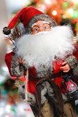 picture of merry chrismas  - mini santa claus on the chrismas tree - JPG