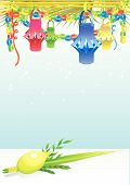 stock photo of sukkot  - Happy Sukkot with decorative elements background for