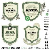 pic of cpa  - Vector money frame and badge template set - JPG