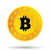 stock photo of open-source  - Bitcoin icon - JPG