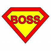 stock photo of superman  - Illustration of the concept of super boss - JPG