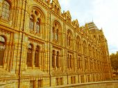foto of kensington  - Vintage look The Natural History Museum on Exhibition Road South Kensington London England UK - JPG