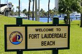 Fort Lauderdale Beach Welcome Sign