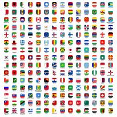stock photo of atlas  - flags of the world  - JPG