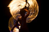 foto of phi phi  - Amazing Fire Show at night on Phi Phi Island - JPG