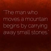 stock photo of taoism  - Inspirational quote by Confucius on earthy background - JPG