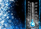 image of thermometer  - Below zero - JPG