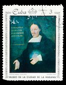 CUBA - CIRCA 1972: A stamp printed in CUBA, shows painting of an
