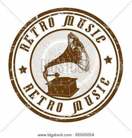 Retro Music Stamp