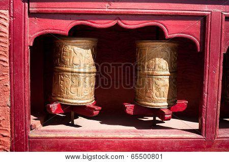 Buddhist Prayer Wheel. India