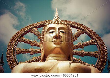 Big Golden Buddha Statue. Koh Samui, Thailand