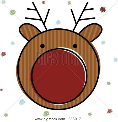 Christmas Reindeer . Vector Illustration
