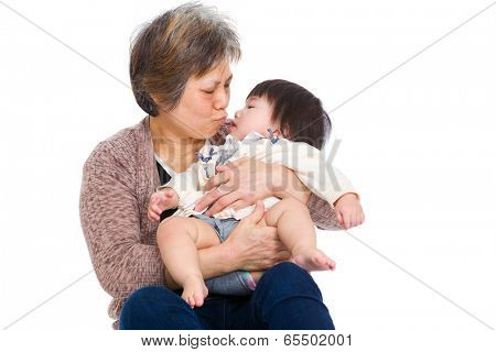 Grandmother and baby daughter
