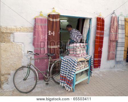 Fabric Market In The Medina Of Tunis - Tunisia