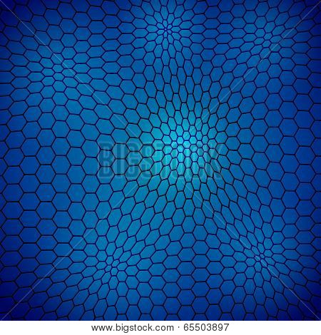 Abstract wavy net with hex cells