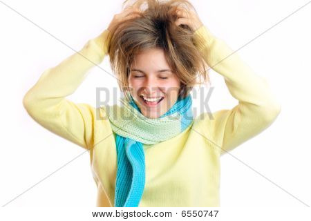 Woman Grabbing Her Head