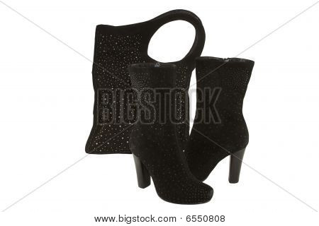Lady Boots And Bag