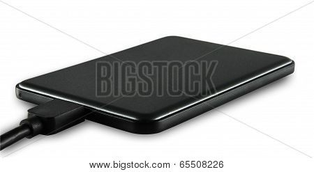 Black slim external harddisk