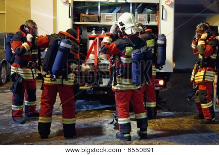 Team Of Firefighters