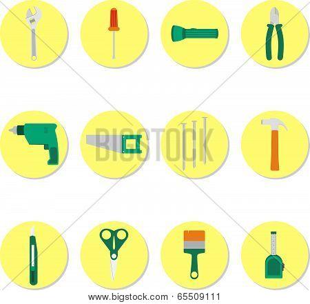 Circular Icons Of Tools