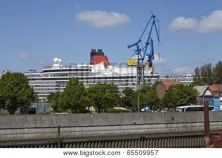 Hamburg - Cruise Ship In A Drydock