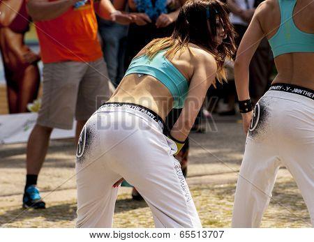 Sexy Students Dance Zumba Class