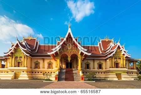 Wat That Luang Tai in Vientine, Laos